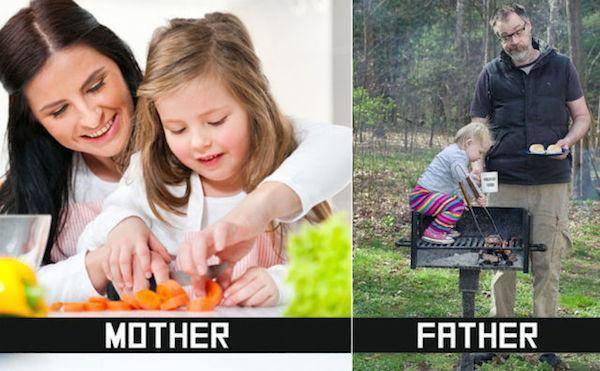Mamička vs. tatko