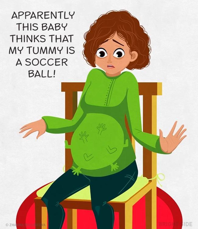 Aj takto vyzerajú chvíle tehotnej ženy! Máme pravdu tehuľky?