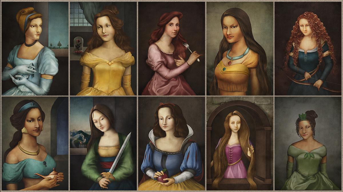 Spoznávate tieto princezné? Takto by vyzerali počas renesancie.