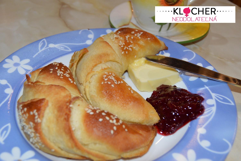 Domáce maslové kroisanty