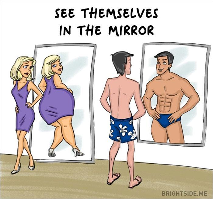 Trefné rozdiely medzi mužmi a ženami. Súhlasíte s nimi?