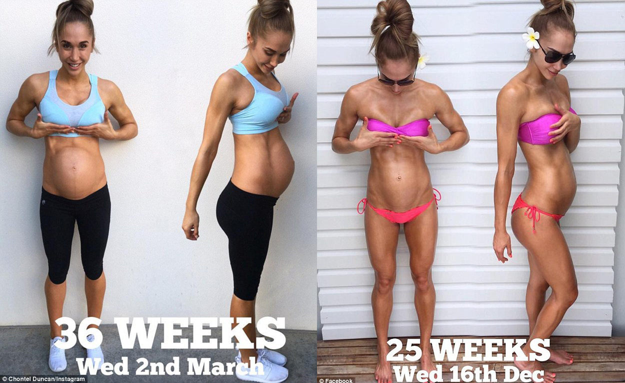 V ôsmom mesiaci tehotenstva ukazuje krásnu postavu! Toto je jej odkaz pre všetky ženy!