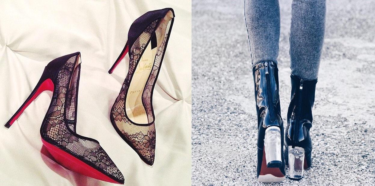 Luxus, trend, výstrednosť alebo elegancia. Topánky na vysokom opätku #1