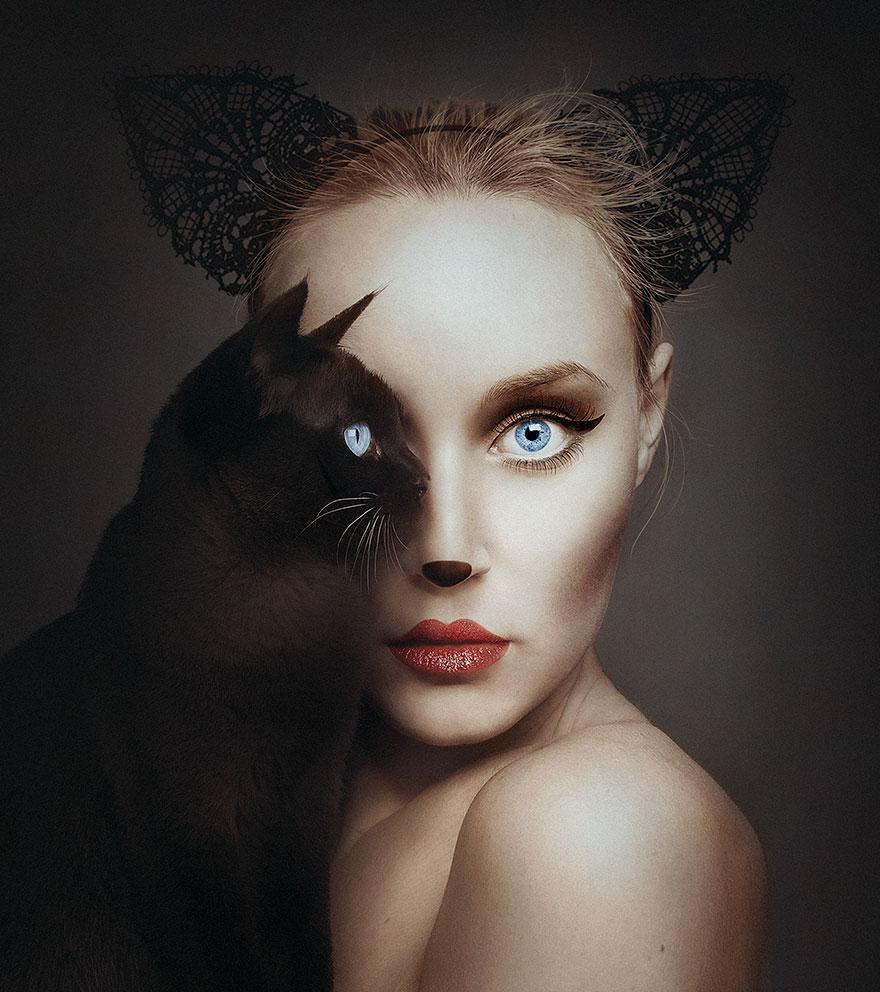 Maďarský fotograf prekrýva ľudské oko zvieracím!
