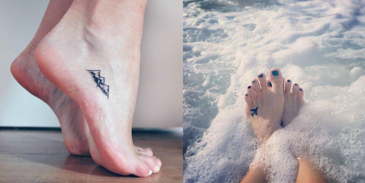 Drobné tetovania na nohách dokazujú, že menej je niekedy viac!