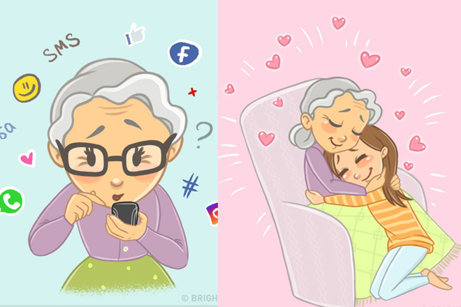 15 sladkých ilustrácií ti vyčarí úsmev pri spomienke na tvoju babku