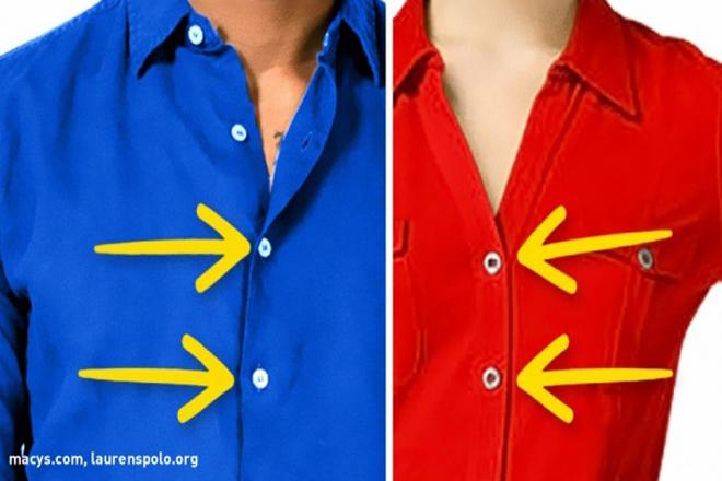 Viete, prečo majú mužské a ženské košele gombíky na opačných stranách? Existuje racionálny dôvod!