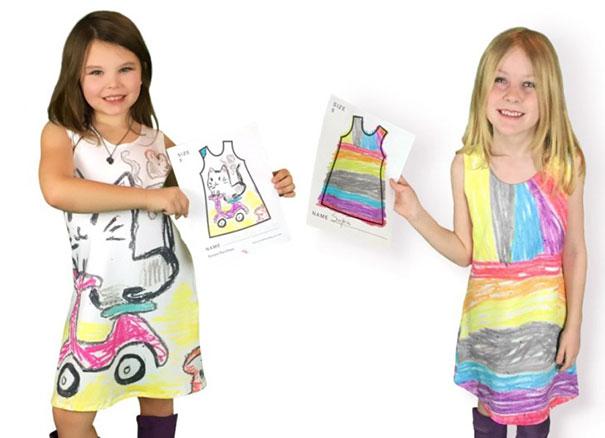 Spoločnosť Picture This umožňuje deťom navrhnúť si vlastné oblečenie. Sleduj tie výtvory!