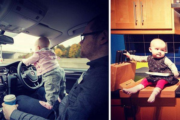 Otec fotí svoju malú dcéru na miestach, ktoré sú obzvlášť nebezpečné. Jeho fotky spôsobujú kolaps nejednému rodičovi