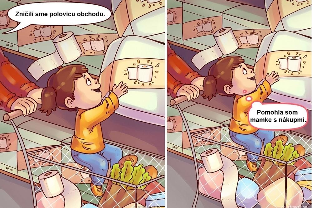 Ako vyzerá ten istý deň z perspektívy matky a dieťaťa? Tieto ilustrácie vám to dokonale vysvetlia