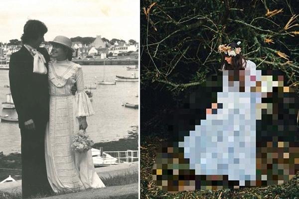 Dcéra sa rozhodla dať druhú šancu maminým svadobným šatám. Takto nádherne v nich vyzerala na svojej svadbe!