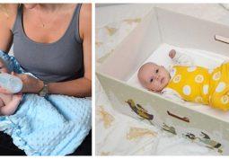 Nemôžete vaše dieťatko uspať? Vložte ho do dojčenského spacieho vaku a dajte do krabice