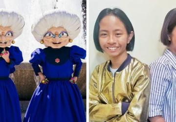 Nehrajú sa s bábikami. Len 11-ročné dvojčatá napodobňujú animované postavičky. Toto sú ich najlepšie kostýmy