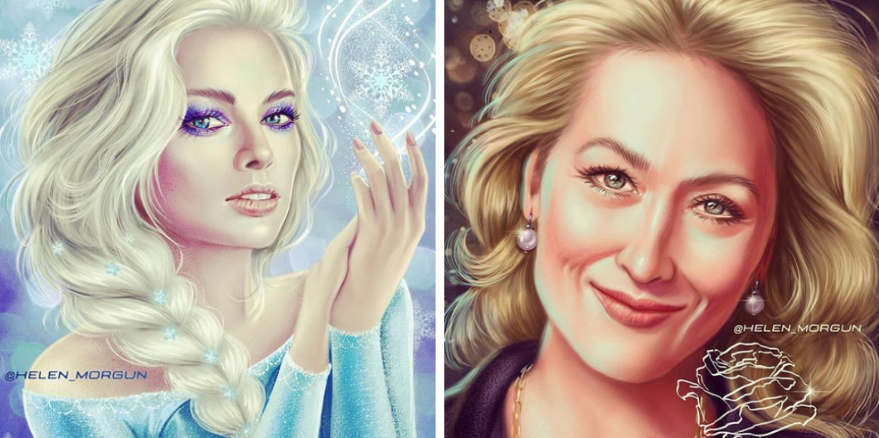 Ruská umelkyňa prekresľuje celebrity na nádherné Disney postavičky. Z Rihanny vám padne sánka